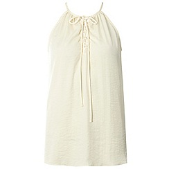 Dorothy Perkins - Cream lace up camisole