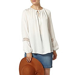 Dorothy Perkins - Ivory long sleeve peasant top