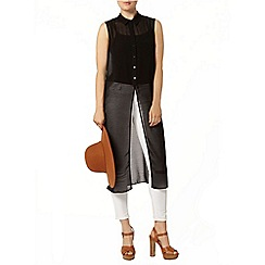 Dorothy Perkins - Black long line shirt