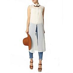 Dorothy Perkins - Ivory long line shirt