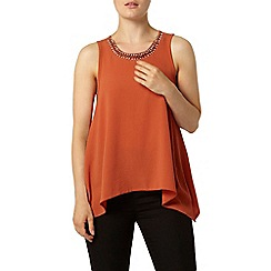 Dorothy Perkins - Terracotta embellished top