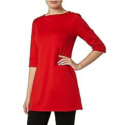 Dorothy Perkins - Red button detail tunic top