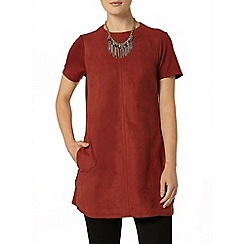 Dorothy Perkins - Teracotta suedette mix tunic