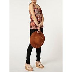 Dorothy Perkins - Rust moroccan pinny top