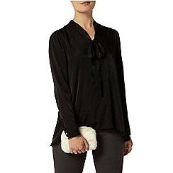 Dorothy Perkins - Black long line pussybow blouse