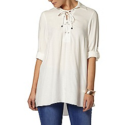 Dorothy Perkins - Ivory tie front shirt
