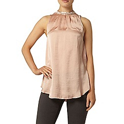 Dorothy Perkins - Blush satin long line top
