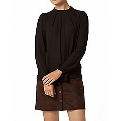 Dorothy Perkins - Black high neck long sleeve top