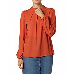 Dorothy Perkins - Terracotta high neck top