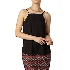 Dorothy Perkins - Black square high neck camisole top