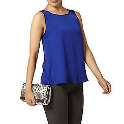 Dorothy Perkins - Blue high neck camisole top