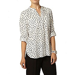 Dorothy Perkins - Animal print roll sleeve shirt