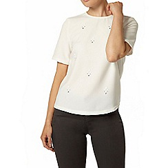 Dorothy Perkins - Ivory embellished t-shirt