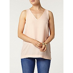 Dorothy Perkins - Peach v front built up camisole top