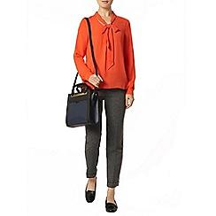 Dorothy Perkins - Orange pussybow blouse