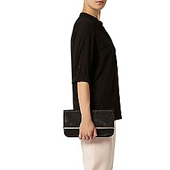 Dorothy Perkins - Black two pocket rollsleeve shirt