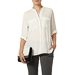 Dorothy Perkins - Ivory two pocket rollsleeve shirt