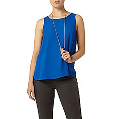 Dorothy Perkins - Blue built up camisole