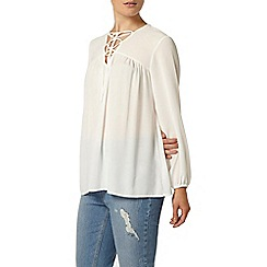 Dorothy Perkins - Ivory lace front tunic