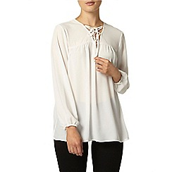 Dorothy Perkins - Ivory lace tunic