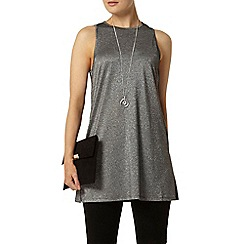 Dorothy Perkins - Silver shimmer tunic