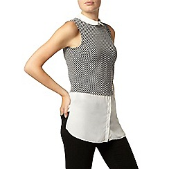 Dorothy Perkins - Textured 2 in 1 sleeveless top