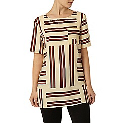 Dorothy Perkins - Ivory and red stripe tunic