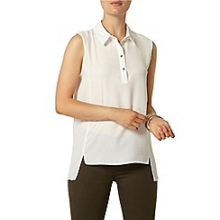 Dorothy Perkins - Ivory concealed placket top