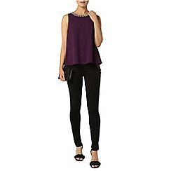 Dorothy Perkins - Purple embellished neck top