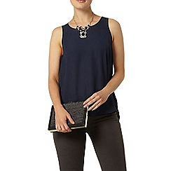 Dorothy Perkins - Navy built up camisole top