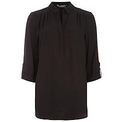Dorothy Perkins - Black rollsleeve shirt