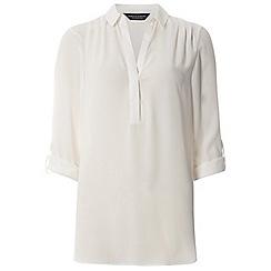 Dorothy Perkins - Tall ivory roll sleeve shirt