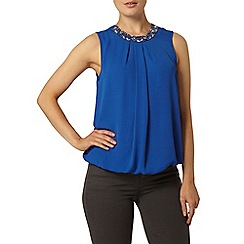 Dorothy Perkins - Cobalt bubble hem top