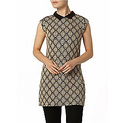 Dorothy Perkins - Stone floral pattern tunic