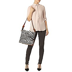 Dorothy Perkins - Dusty pink rollsleeve shirt