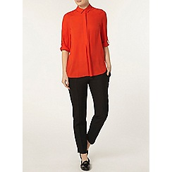 Dorothy Perkins - Red collar rollsleeve shirt