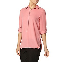 Dorothy Perkins - Pink collar roll sleeve shirt