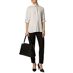 Dorothy Perkins - Grey collar roll sleeve shirt