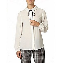 Dorothy Perkins - White contrast tie blouse
