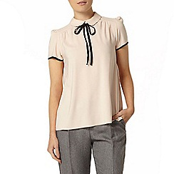 Dorothy Perkins - Blush soft t-shirt with neck tie
