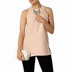 Dorothy Perkins - Pink suedette tunic