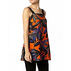 Dorothy Perkins - Leaf print sleeveless top