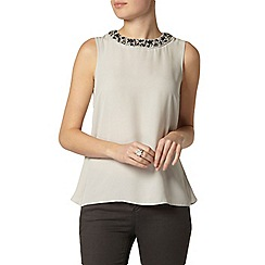 Dorothy Perkins - Ligh green embellished top
