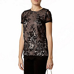 Dorothy Perkins - Black contrast lace top