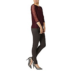 Dorothy Perkins - Mulberry lace longsleeve top