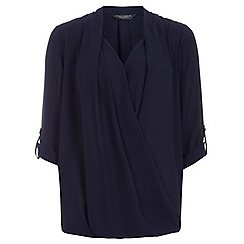 Dorothy Perkins - Tall navy wrap blouse
