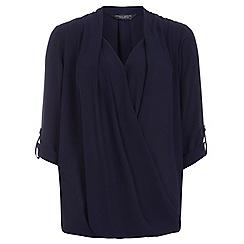 Dorothy Perkins - Tall navy wrap blouse