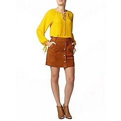 Dorothy Perkins - Yellow tie long sleeve blouse