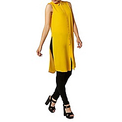 Dorothy Perkins - Yellow sleeveless long shirt tunic