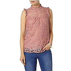 Dorothy Perkins - Pink lace high neck top